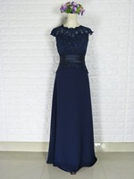 Royal Blue 2018 Mother Of The Bride Dresses A line Cap Sleeves Chiffon Appliques Beaded Groom Long Mother Dresses of Plus Size