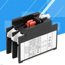 8Pcs AC Contactor 4-20 2NO Auxiliary Contact Block for CJX2 CJX4 LC1 Series AC Contactor 220V стоимость