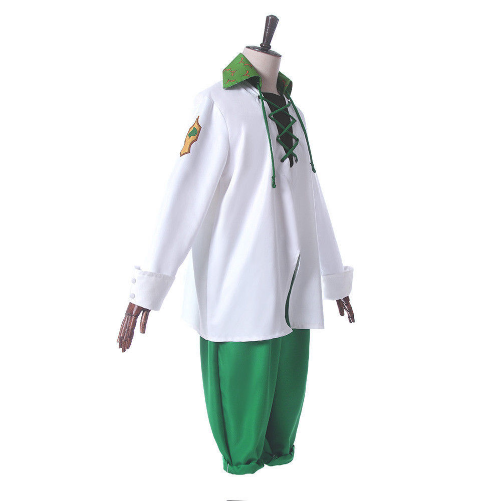Anime The Seven Deadly Sins Cosplay Meliodas Uniform Costume Complete Outfit Tops + Pants Suit  Halloween