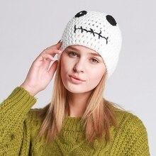 Simple Sweet Ear Protection Women Winter Warm Hats Beanies Crochet Woolen Yarn Caps Female Handmade Knitted Cap