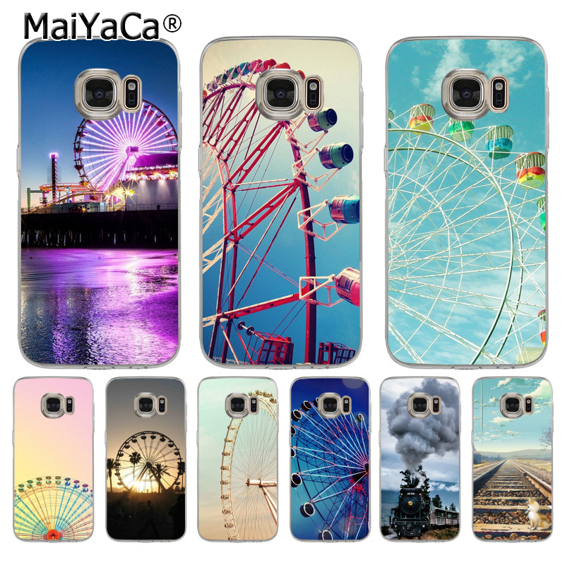 MaiYaCa Ferris wheel Railway transparent soft tpu Phone Accessories Case for samsung galaxy s8 s7 edge s6 edge plus s5 s9 case