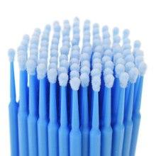 100 шт./компл. двойной головкой одноразовый тампон волокна Пластик палочки для бровей ресниц макияж инструменты