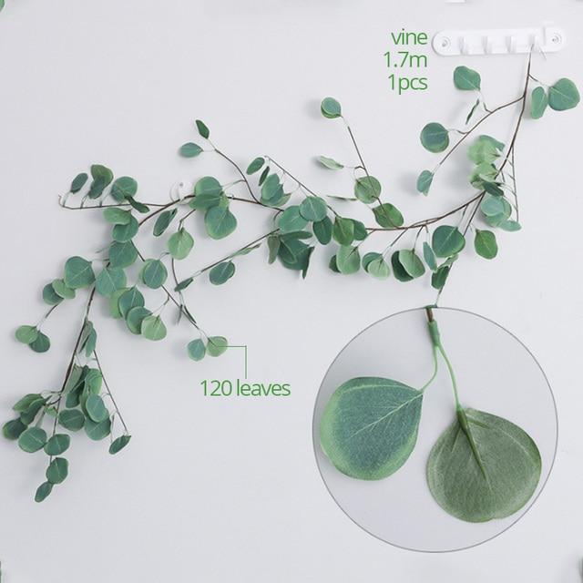 Barley33 Artificielle Fausse Feuille Eucalyptus Plante Feuilles Vertes F/ête De Mariage De No/ël D/écor /À La Maison