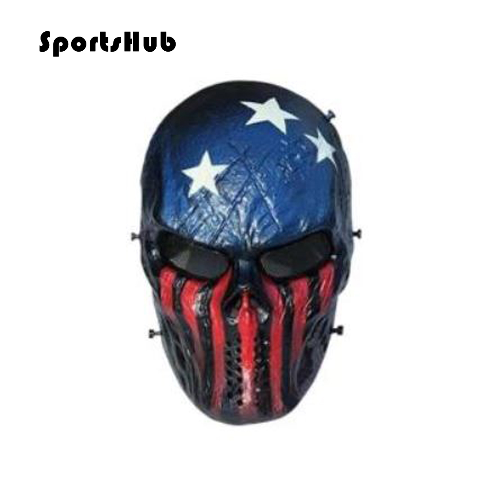 SPORTSHUB Cool Skeleton Zombie Skull Warrior Paintball Mask Airsoft - Laskmine - Foto 1