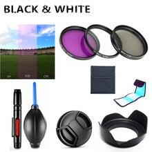 Filtro UV FLD CPL, capucha de lente, tapa, pluma de limpieza, soplador de aire para Panasonic Lumix DC FZ80 DC FZ82 FZ80 FZ82 FZ83 FZ85