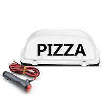 1 pcs LED CAR Top Light  Roof PIZZA sigl light and with 3 Meter charger line Magnet base Advertising dome
