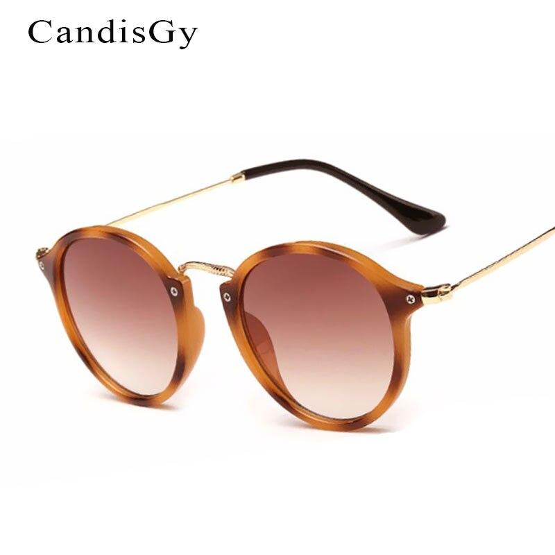 Miroir rond De Mode Cat Eye lunettes de Soleil Femmes Marque Designer Hommes  Lady Femme lunettes de Soleil UV400 Femelle De Petite Taille b72fd88b04d0