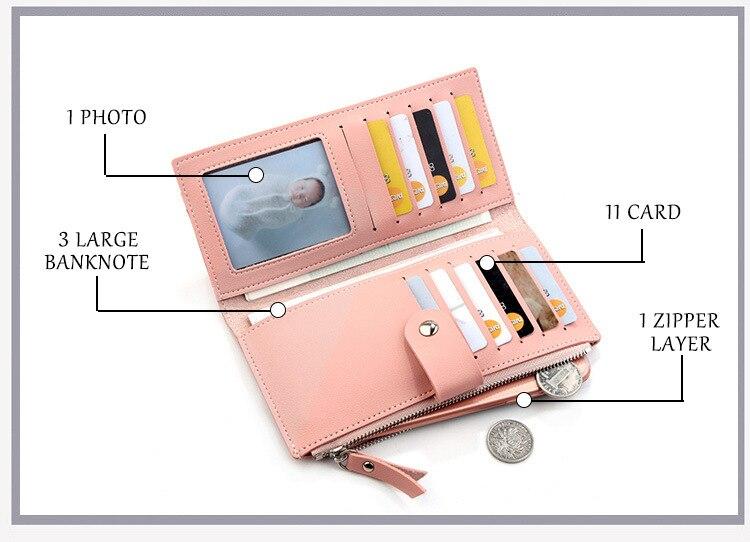 Роскошные Брендовые женские кошельки, длинный модный кошелек из искусственной кожи с застежкой, Женский кошелек, клатч, женский кошелек, кошелек для монет