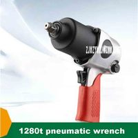 New 7000r/min 1280t Industrial Class 1/2'' 650N.M Pneumatic Wrench Large Torque Pneumatic Tool Tyre Disassembly Torque Wrench|Power Tool Sets|Tools -