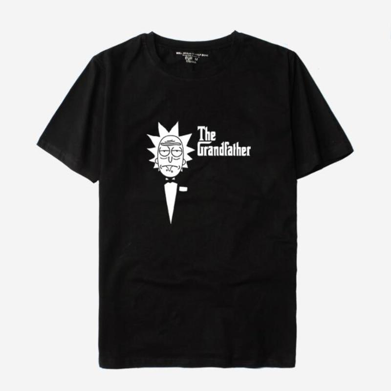 Funky Rick And Morty T-Shirt Women/Men Harajuku Tee Shirt homme Crazy Scientist Rick Cartoon T Shirt Camisetas Funny Clothing