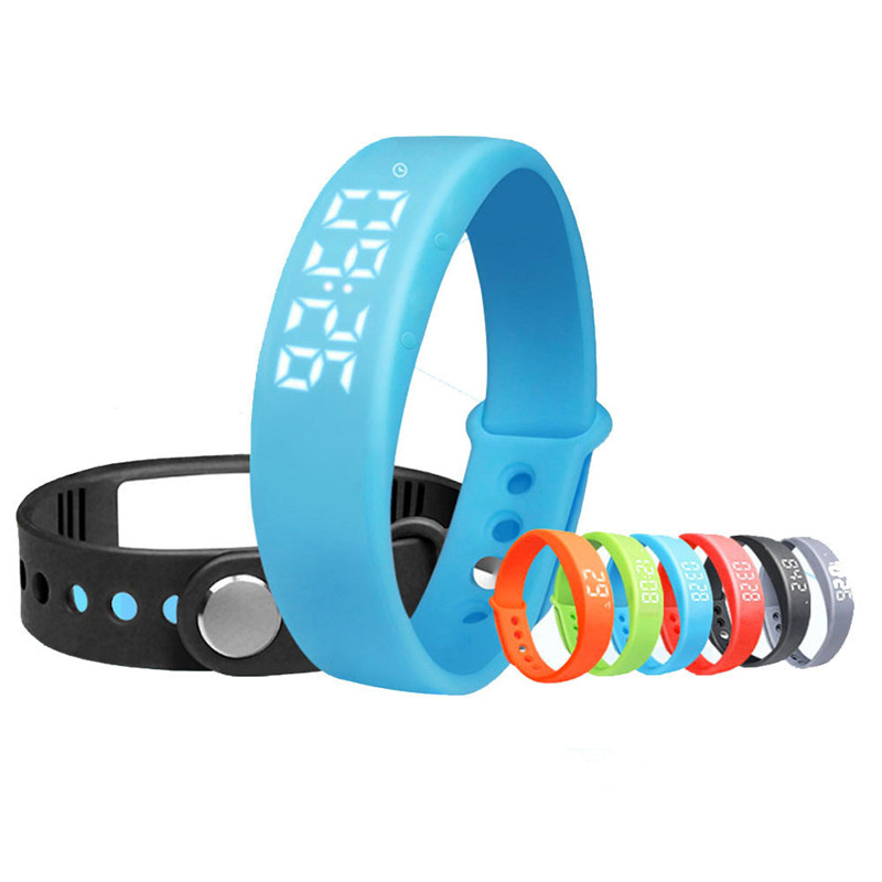 3D Acceleration Sensor Sports Pedometer Smart Bracelet Sleep Health Band Waterproof For iphone Android USB Rechargeable