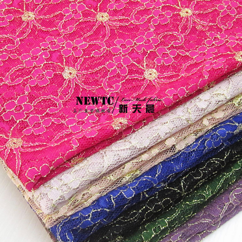 b7a71fbe4ca Soft gauze net gold purple lace fabric skirt no soft elastic mesh mesh yarn  yarn fabric.