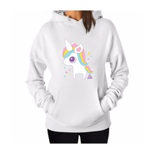 Women's Cartoon Funny Unicorn Printed Hoodie