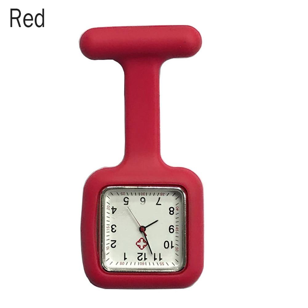 Silicone Nurse Square Watch Pocket Brooch Clip Medical Nurse Pocket Nursing Watch LL@17