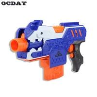 Hot OCDAY Electric Gun Plastic Sniper Rifle Toy Gun Super Far Range Soft Bullet Bursts Gun