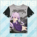 Japanese Anime New Game! Suzukaze Aoba T-shirt Polyester T Shirt Summer Active Fashion Men Women Clothing