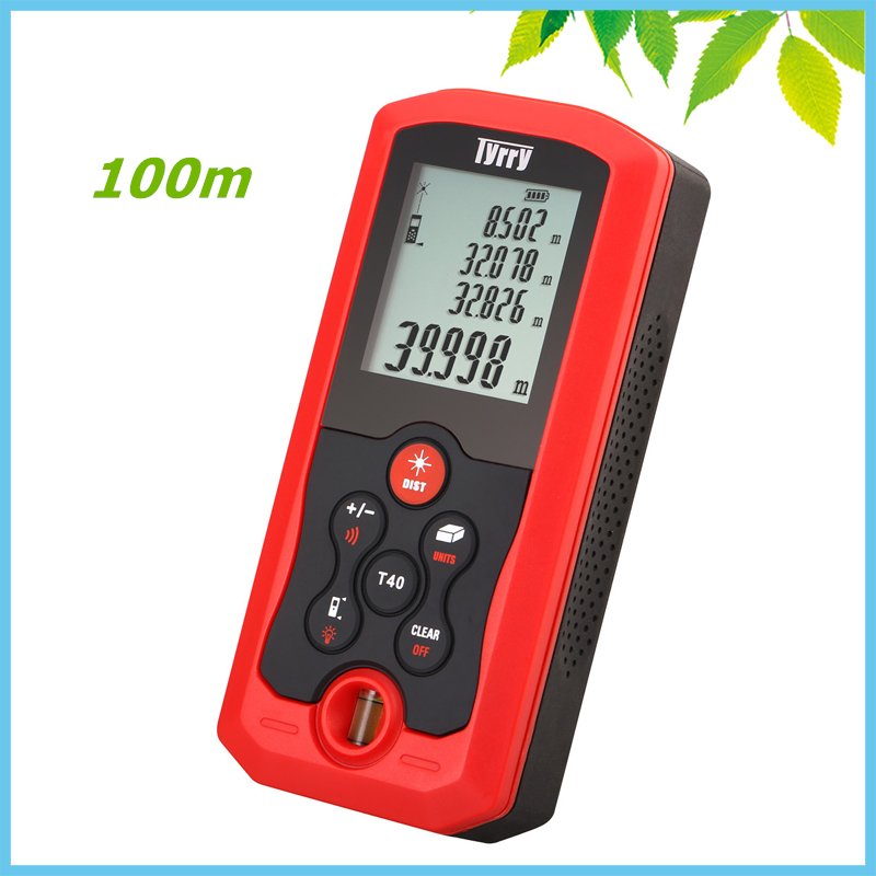 100m Digital Laser Distance Meter Bubble Level Area Volume Distance Tester M FT Inch Tool Pythagoras Range Finder Tape Measure digital laser distance meter bigger bubble level tool rangefinder range finder tape measure 80m area volume angle tester