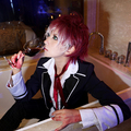 Diabolik Lovers Haunted Dark Bridal Ayato Sakamaki  gradient hair vampire Cosplay Wig