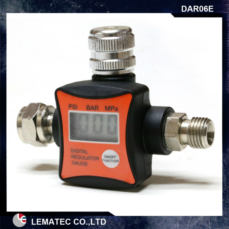 LEMATEC New Design Digital Air Pressure Regulator Flow Regulator Air Pressure Gauge CE 1/4 air accessory for Air tools 1pc brass argon co2 gas pressure regulator mig tig welding flow meter gauge w21 8 1 4 thread 0 20 mpa