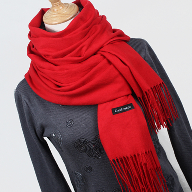 Warm cashmere tassel lady scarves