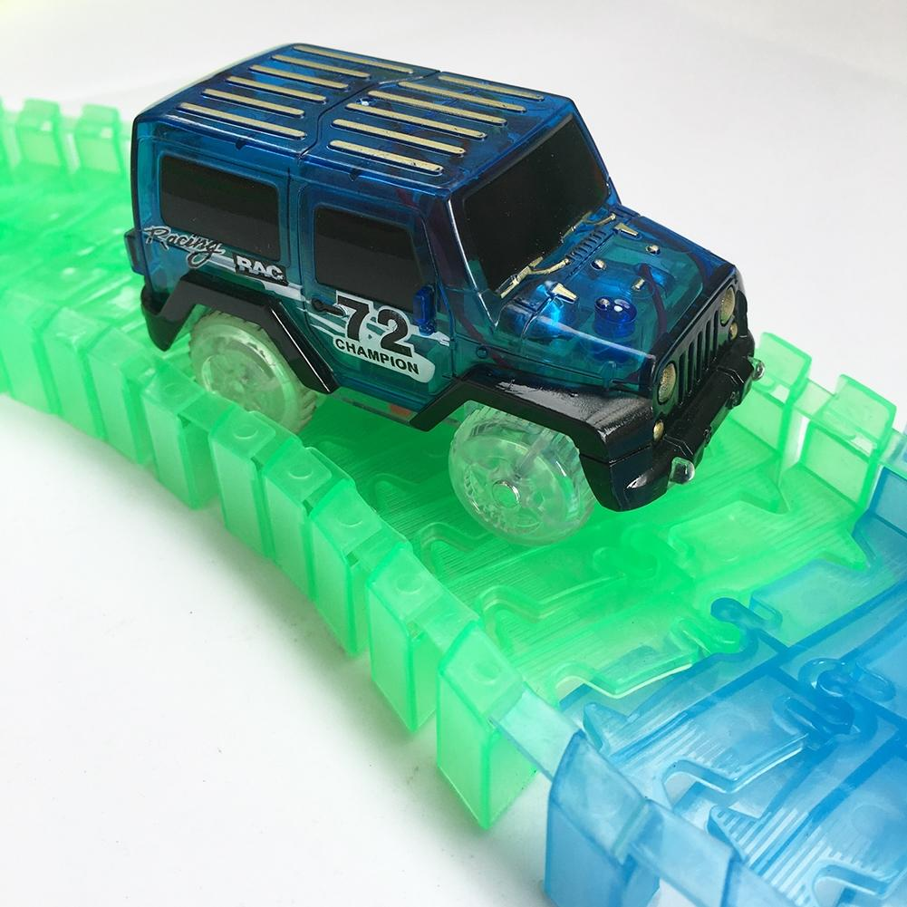 Image 4 - LeadingStar 1Pc Children LED Electric Car Toy for Glow Tracks Shining in the Dark Amazing Racetrack Race Car(Not Include Tracks)-in Diecasts & Toy Vehicles from Toys & Hobbies