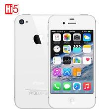 Odblokowany Apple iPhone 4S telefon 8 GB ROM Biały Czarny iOS GPS WiFi GPRS Wolnym Darem Darmowa wysyłka iphone4s mobilna telefon