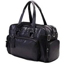 Новое поступление, кожаные дорожные сумки для мужчин, Роскошные, вместительные, портативные, мужские сумки на плечо, мужские сумки, винтажные дорожные сумки
