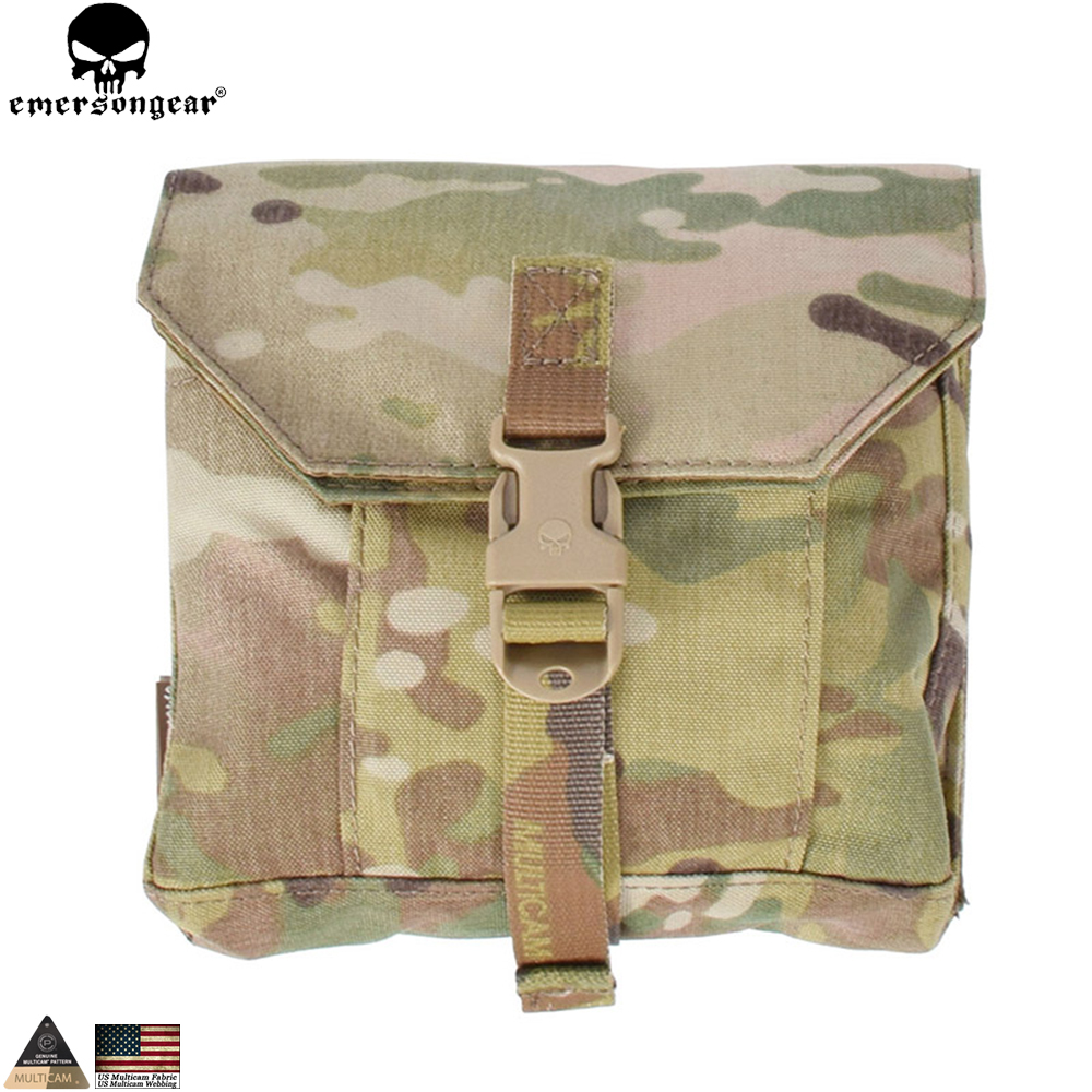 EMERSONGEAR Paintball Multi-Purpose Pouch Taktikal Tentera Molle Emerson Pouch Combat Gear Multicam Coyote Brown EM8344