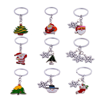 30pcs/Lots High quality 9 style Unisex Christmas Decoration gift Keychain/Pendant charm accessories