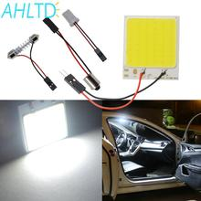 Promotion 1Pcs White T10 48Smd Cob Led Panel Car Auto Interior Reading Map Lamp Bulb Light Dome Festoon BA9S 3Adapter DC12v car led dc12v big promotion t10 24 smd cob led panel super white car auto interior reading map lamp bulb light car light source