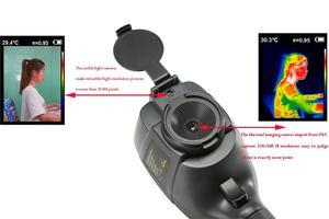 Image 3 - 2020 Hti 18 el IR termal görüntüleme kamerası dijital ekran yüksek kızılötesi görüntü çözünürlüğü termal kamera 25 ila 450 derece