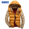 The new winter 2017 Men thick warm Contrast color Leisure down coat / high-quality cotton Mens fashion casual coat jackets