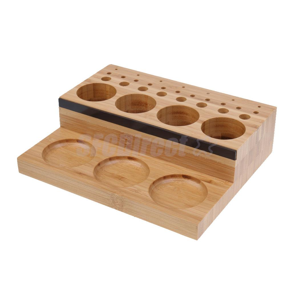 Fly Tying Tool Caddy Wooden Vise Clamp Tool Holder Fishing Fly Tying Station Hooks Glue Bobbin