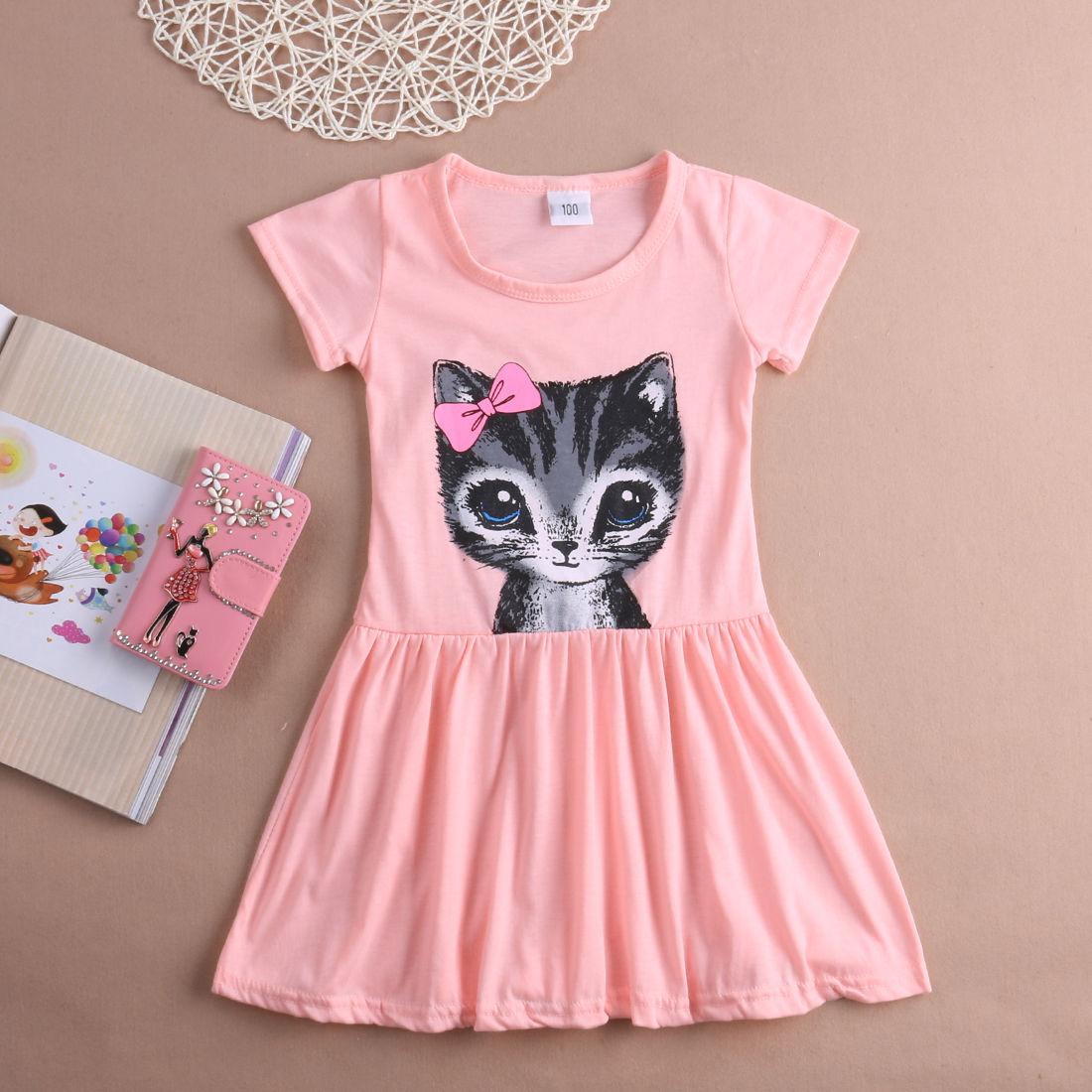 Kleinkind Infant Kinder Baby Mädchen Sommer Kurzarm Kleid Prinzessin Party Tutu Kleid