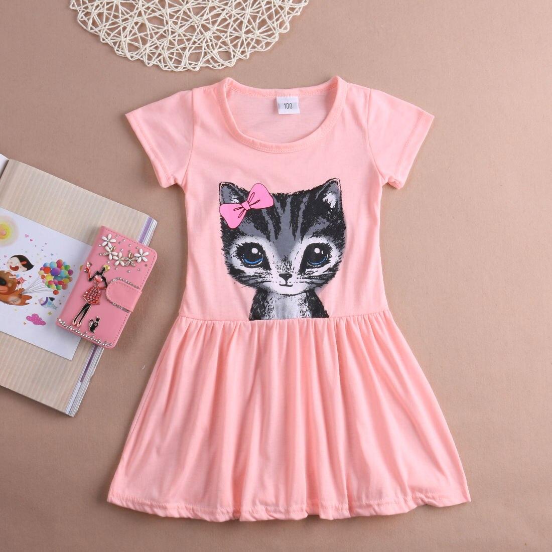 Летнее платье с короткими рукавами для маленьких девочек, вечернее платье-пачка принцессы