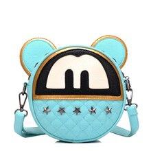 Kids PU Mickey Handbag Bow Cute Messenger Bag Little Girls Princess Fashion Bag Baby Girls Party Bags SS0138