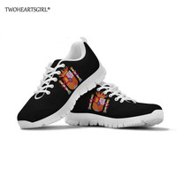 Twoheartsgirl Spanish Flag Men Casual Vulcanized Shoes Lac up Men Shoes Comfortable Breathable Walking Sneakers Feminino Zapato