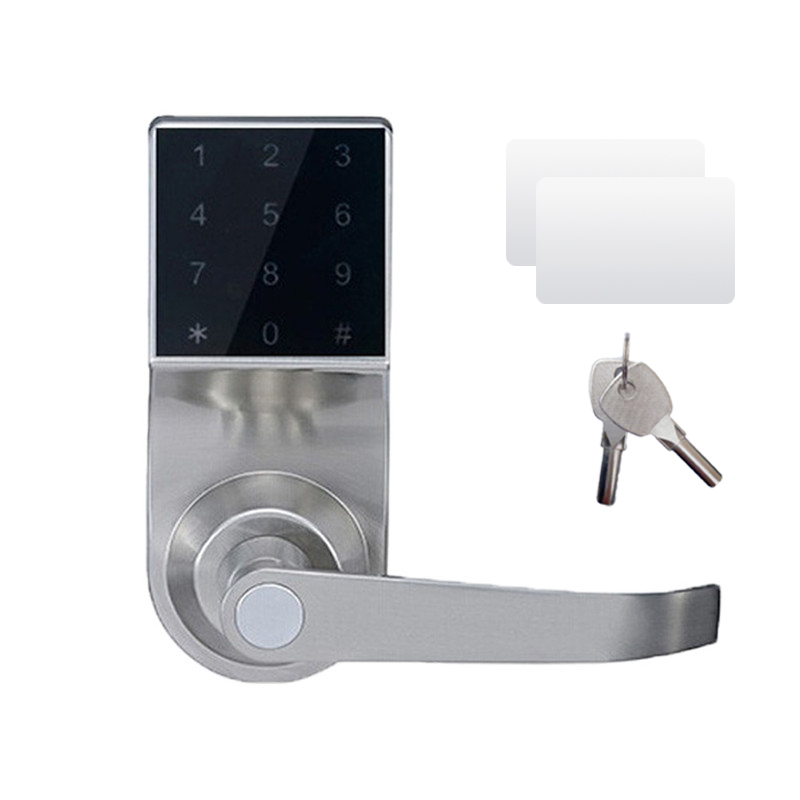 Electronic Door Knob With Backup Mechanical Key Spring Latch LOCK Security Digit