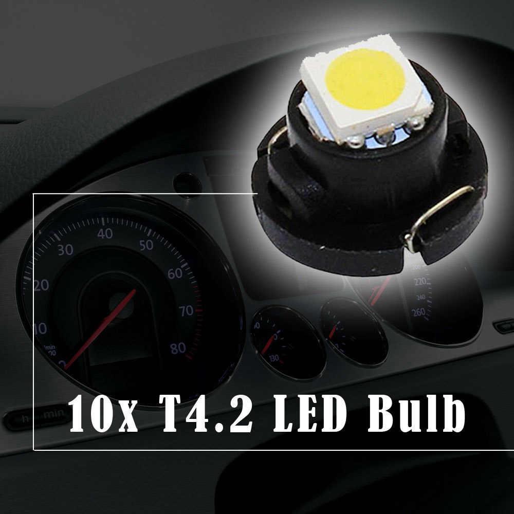 10 шт. T4.2 Led SMD подсветка приборной панели автомобиля панель Спидометр тире Светильник лампы Авто приборной панели тире лампы кластера 6 цветов # LA05