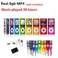Alta calidad batería mp4 8 gb 9 Colores para elegir el tiempo de reproducción de Música 30 horas de radio FM reproductor de vídeo