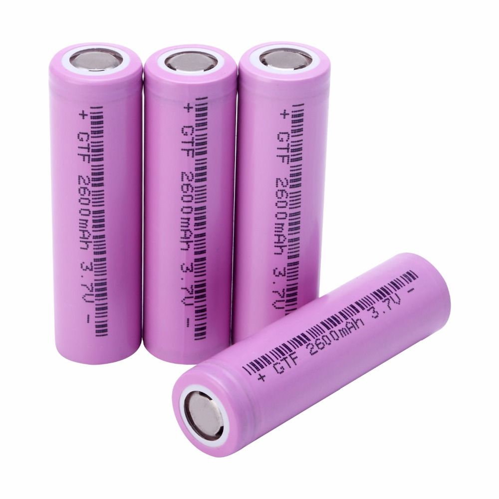 1-10pcs 18650 Battery 2600mAh 3.7V ICR18650 26F 2600mah for samsung Rechargeable Li-ion batteries for flashlight Torch Battria image