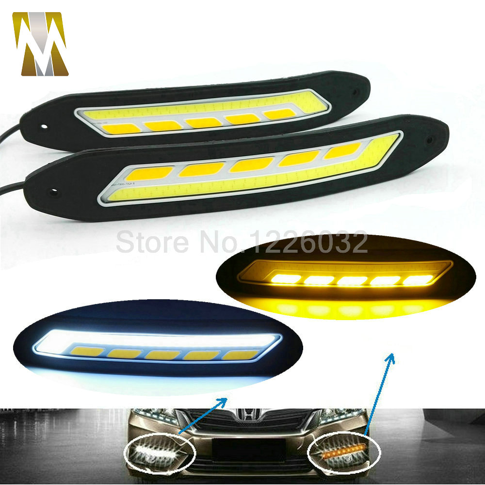 2PCS 100% Waterproof Ultra-thin 20W 26CM COB Chip LED Daytime Running Light LED DIY DRL Fog Car Lights Car day Running Lights leadtops led daytime running light 2pcs 100% cob chip led diy drl fog car lights car day lamp 12v for audi vw toyota mazda be