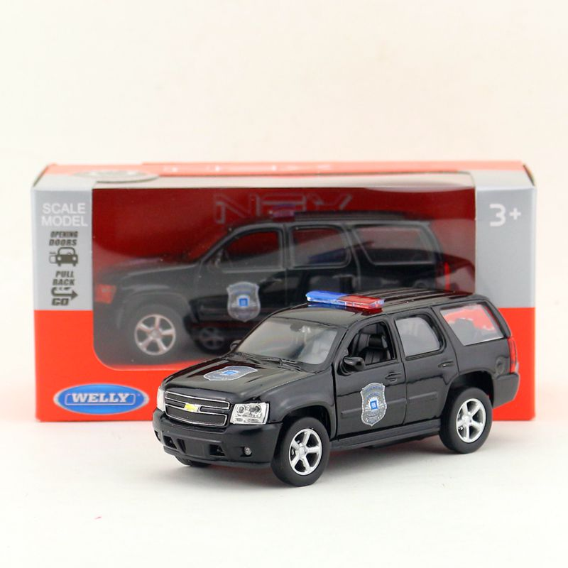 Welly DieCast Model/1:36 Scale/<font><b>2008</b></font> CHEVROLET <font><b>TAHOE</b></font> Police Toy Car/Pull Back Educational Collection/Children's gift/Collection image