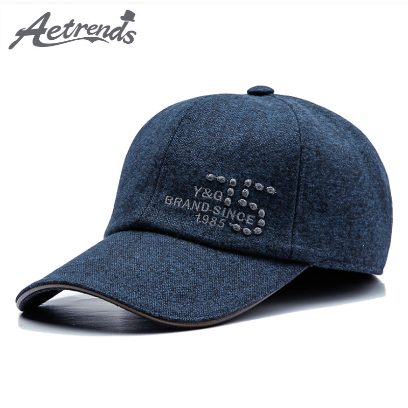5b4036acc67 Details about  AETRENDS  2018 New Winter Baseball Cap Men Hat with Earflaps  Brand Baseball