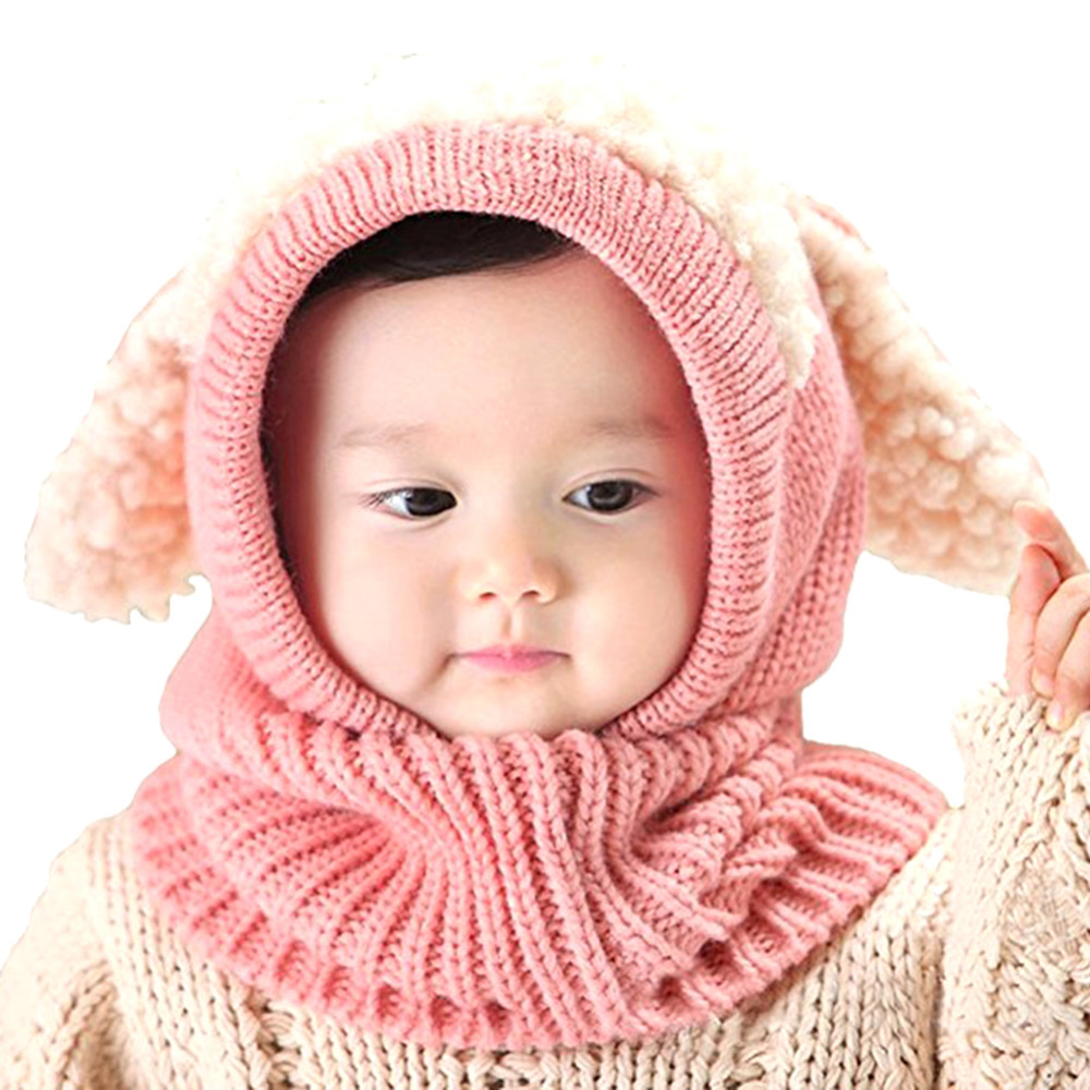 Accessories Baby Cute Knitted Hat Cloak Scarf 4 Colors Trendy Earflap Bunny Ear Sleeve Cap For Infant 6-36 Months Wear In Autumn And Winter