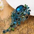 Brilhante Colar Feminino Strass Broch Casamento Mulheres Broches de Flor de Moda Acessórios Vintage Bem Mais Broches Pino de Relogio