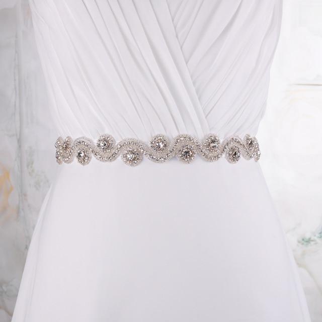 TOPQUEEN S10 Free shipping cheap Wedding Dress Belt  Crystal Rhinestone Bridal Sash  Wedding Dress Accessories