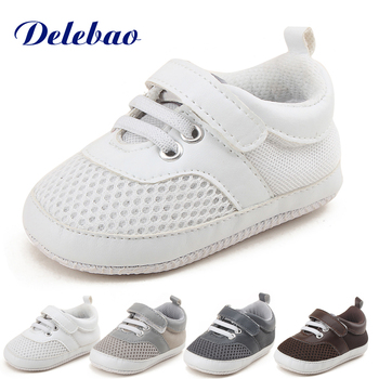 Delebao Air Mesh Soft Baby Shoes Sole Infant Toddler Hook & Loop Non-slip First Walkers