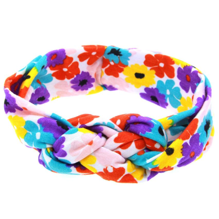 woweile # 4014 Printing Intersect Elastic Cloth Headband ...