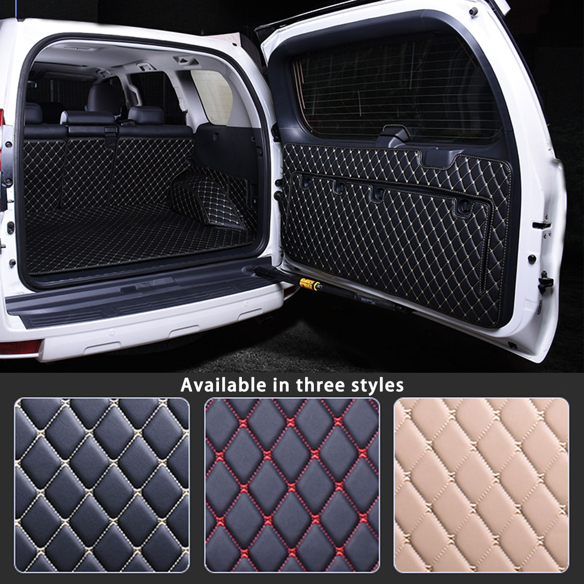 Cargo Rear Trunk Tailgate Tail Gate Door Mat Cover Floor Carpet Mud Pad Kick Tray For <font><b>Toyota</b></font> Land Cruiser Prado <font><b>150</b></font> 2010 - 2018 image